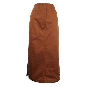 DIANNE VON FURSTENBERG Midi Twill Pencil Skirt 10